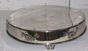 18 Inch Round Silver Cake Stand